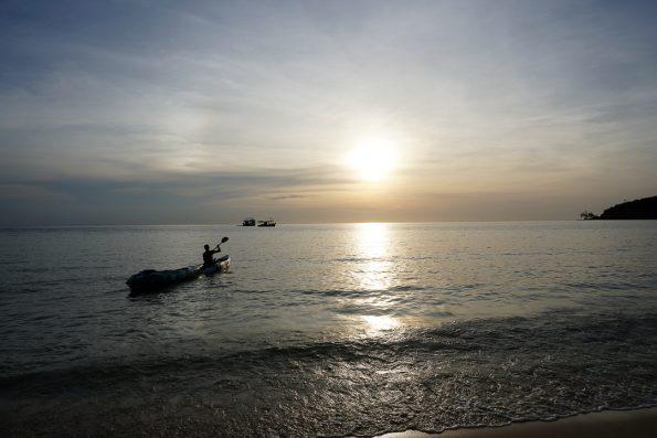 Kanufahrt Sunset Beach zu Lazy Beach Koh Rong Sanloem