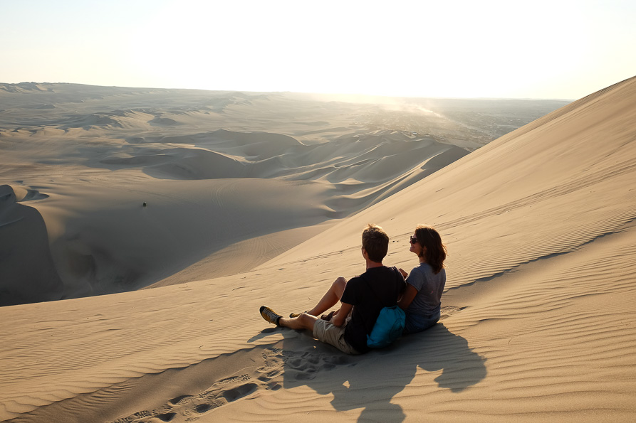 Incredible views up the dunes