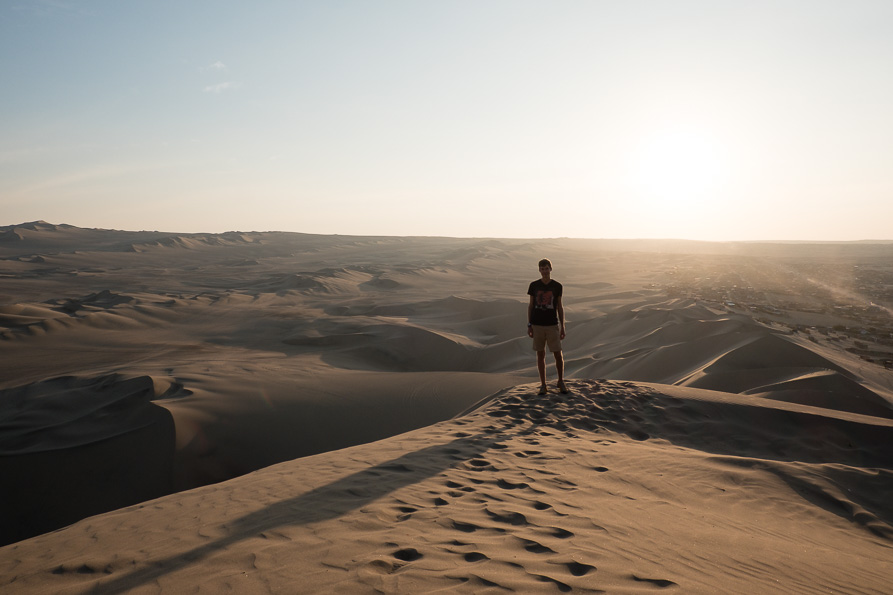 On top of the Huacachina dunes