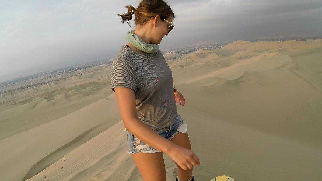 Sandboarding starting point