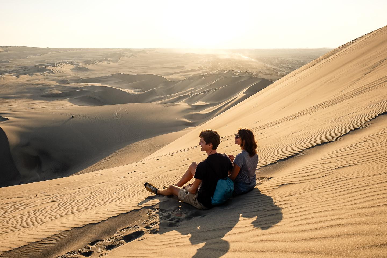 Huacachina Sand Dunes Sunset