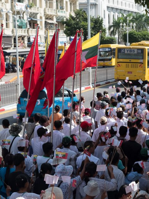 Demonstration in Yangon